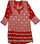 Spanish Red Ladies Tunic Shirt