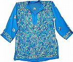 Curious Blue Ladies Tunic Top