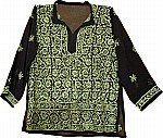 Black Tunic Top Summer Shirt