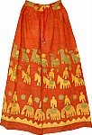 Flamingo Bohemian Long Skirt