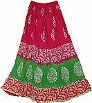 Floral Batik Summer Skirt