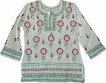 White Embroidered Cotton Tunic