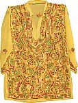 Fuel Yellow  Ladies Tunic Top