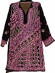 Black Magenta Tunic Shirt