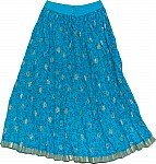 Chilled Blue Short Crinkle Skirt