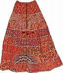 Ethnic Printed  Boho Long Skirt