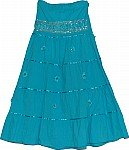 Deep Cerulean Sequin Long Skirt