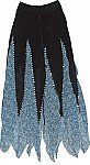 Womens Black Georgette Skirt