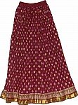 Persian Plum Long Skirt