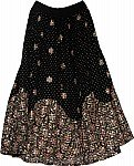 Dancing Long Black Sequin Skirt