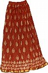 Brown Rust  Ethnic Long Skirt