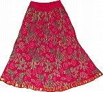 Crimson Short Crinkle Skirt