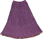 Eggplant Ethnic Short Skirt