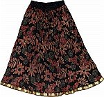 Short Black Floral Skirt