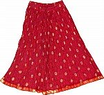 Maroon Flush Short Crinkle Skirt