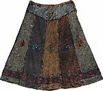 Charcoal Paneled Winter Skirt