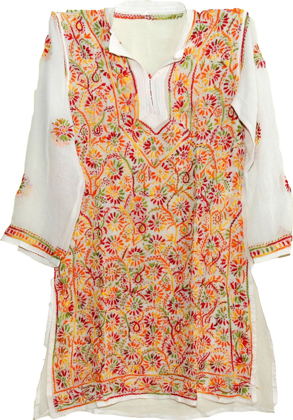 White Ladies Tunic Top