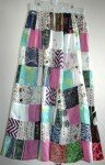Bohemian Skirt Printed Patchwork with Mirrors