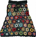 Black Crochet Cotton Skirt