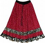Monarch Sequined Long Skirt