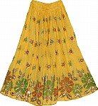 Golden Grass Sequin Skirt