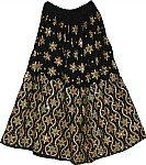 Festive Black Sequin Skirt