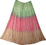 Summer Long Skirt with Mirrorwork