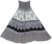 Waterloo Black White Smock Dress Skirt