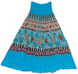 Blue Sand Boho Long Skirt
