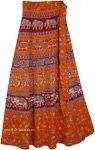 Heath Oregon Long Wrap Skirt