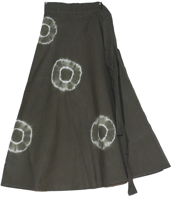 Heavy Metal Tie Dye Rings Long Skirt