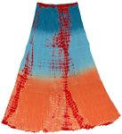 Flamingo Fountain Tie Dye Skirt