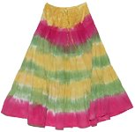 Hot Summer Tie Dye Long Skirt
