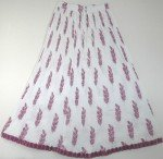 White Fuchsia Crinkle Summer Long Skirt