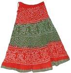 Crimson Tie Dye Long Skirt