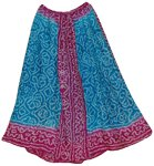 Turquoise Pink Tie Dye Long Skirt