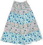 Petals Summer Cotton Long Skirt