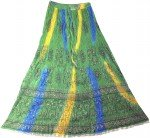 Arabian Princess Ethnic  Green Long Skirt