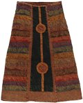 Copper Front Panel Boho Skirt