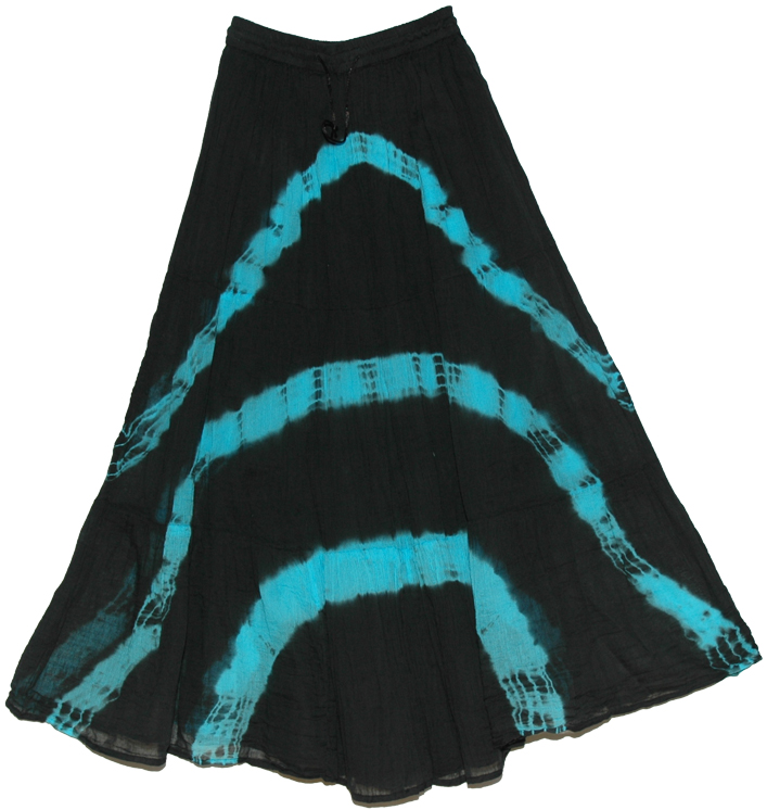 black tie dye skirt blue streaks clothing tie dye