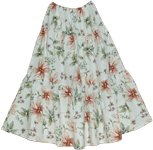Printed Floral Summer Long Skirt