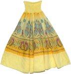 Golden Yellow Mosaic Smock Boho Skirt