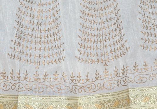IIron White Crinkle Skirt in Golden Allure