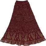 Heath Brown Crinkle Long Skirt