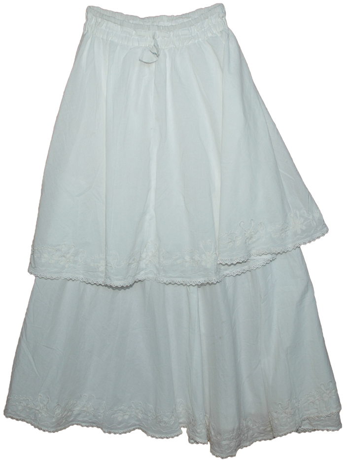 Long White Skirts - Skirts