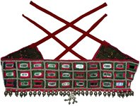 Tribal Gypsy Mirror Beads Belt