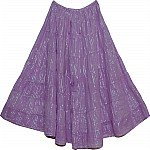 Amethyst Smoked Tinsel Cotton Skirt