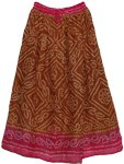 Bohemian Style Mocha Pink Long Skirt