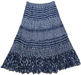Tribal Tiered Bohemian Crinkle Skirt