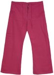 Pink Pop Linen Lounge Pants